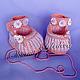 Пинетки Карамельки. Коллекция вязаной обуви для малышей, ручная работа.