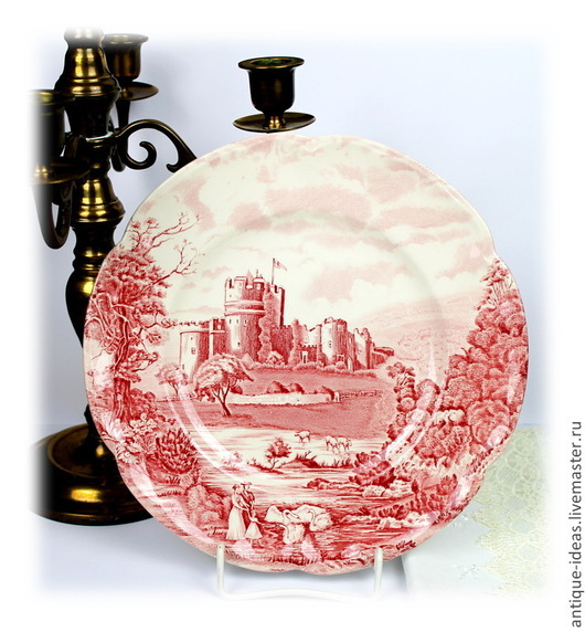 """Винтажная посуда. Ярмарка Мастеров - ручная работа. Купить Johnson Brothers Англия Серия """"Castle Story"""" Столовые тарелки. Handmade."""