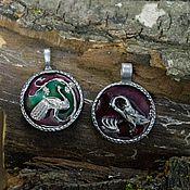 Свадебный салон ручной работы. Ярмарка Мастеров - ручная работа Парные медальоны для молодоженов. Handmade.