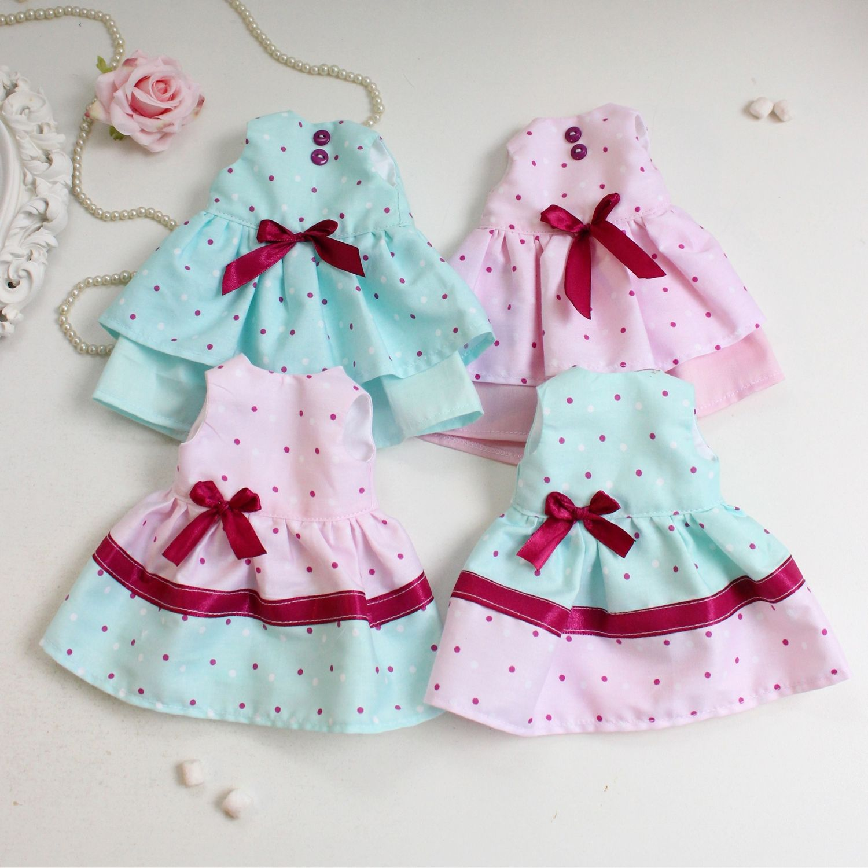 Мятно-розовые платья для кукол паола Рейна, Одежда для кукол, Москва,  Фото №1