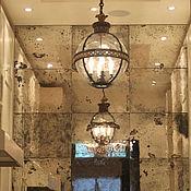 Для дома и интерьера ручной работы. Ярмарка Мастеров - ручная работа Зеркальное панно в стиле лофт из состаренных зеркал ручной работы. Handmade.