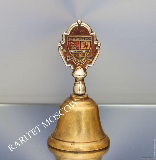 Винтажные предметы интерьера. Ярмарка Мастеров - ручная работа. Купить Колокольчик герб бронза латунь Англия клеймо 54. Handmade.