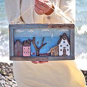 """Картины и панно ручной работы. Ярмарка Мастеров - ручная работа Панно driftwood  """"У синего моря"""". Handmade."""