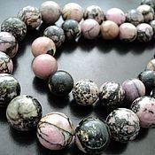 Материалы для творчества handmade. Livemaster - original item Smooth rhodonite beads beads, 14mm and 17mm. Handmade.
