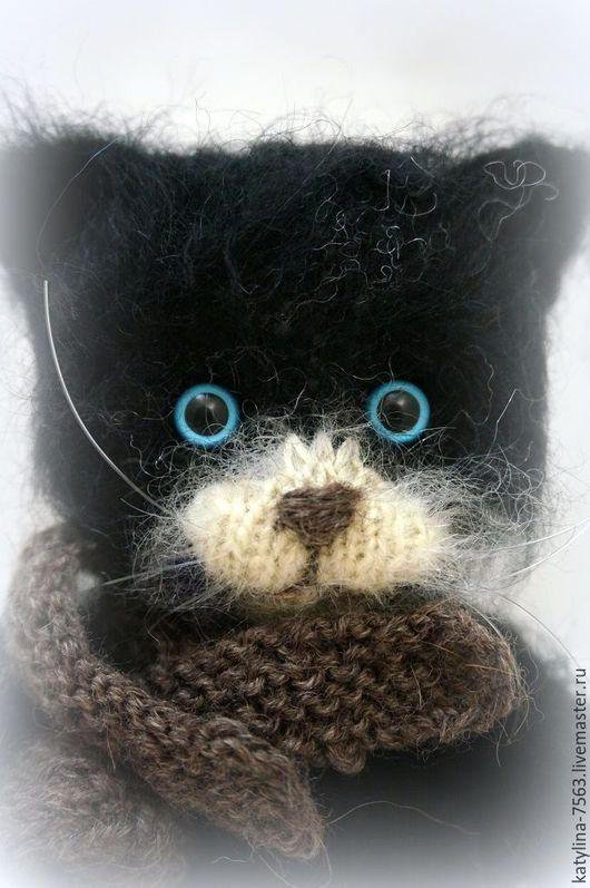 """Игрушки животные, ручной работы. Ярмарка Мастеров - ручная работа. Купить """"Изумлённый Кот"""". Handmade. Темно-серый, коты, котята"""
