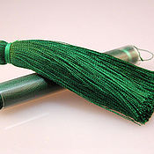 Материалы для творчества ручной работы. Ярмарка Мастеров - ручная работа Кисточки для серег - зеленый. Handmade.