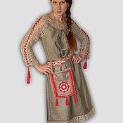 """Одежда ручной работы. Ярмарка Мастеров - ручная работа Платье """"Серебристый лен"""". Handmade."""