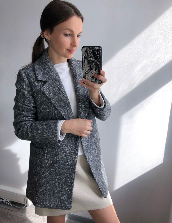 Жакет серый из шерсти, Жакеты, Москва,  Фото №1