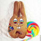Куклы и игрушки ручной работы. Ярмарка Мастеров - ручная работа Радужный заяц (чердачная игрушка). Handmade.
