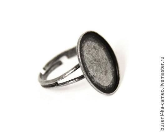 Для украшений ручной работы. Ярмарка Мастеров - ручная работа. Купить Основа для кольца Простая 13х18мм, античное серебро (1шт). Handmade.