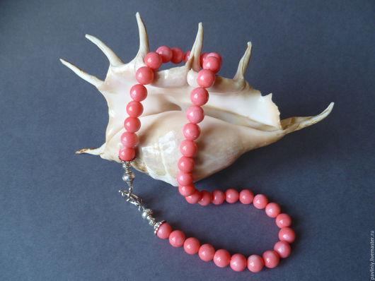 Колье, бусы ручной работы. Ярмарка Мастеров - ручная работа. Купить Бусы коралловые. Розовый коралл - Шар (8). Handmade.