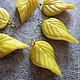 Для украшений ручной работы. Ярмарка Мастеров - ручная работа. Купить Подвеска Лист лимонный №1 (стекло) 1шт.. Handmade.