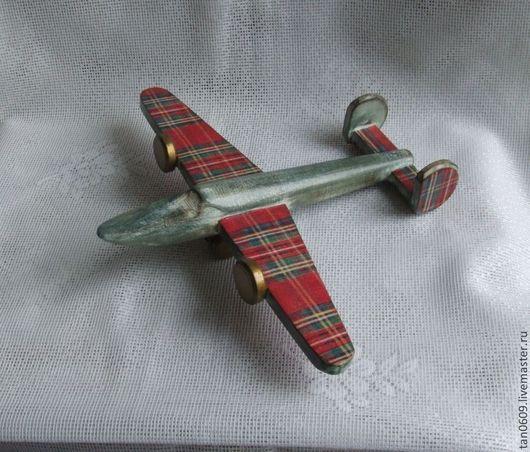 """Детская ручной работы. Ярмарка Мастеров - ручная работа. Купить Интерьерная игрушка """"Самолетик из Шотландии"""" отлож.. Handmade. Зеленый, подарок"""