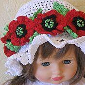 Аксессуары handmade. Livemaster - original item PANAMA knitted for girls