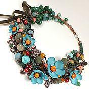 Украшения handmade. Livemaster - original item Fairy Early Forget-Me-Nots. Necklaces, fabric flowers.. Handmade.