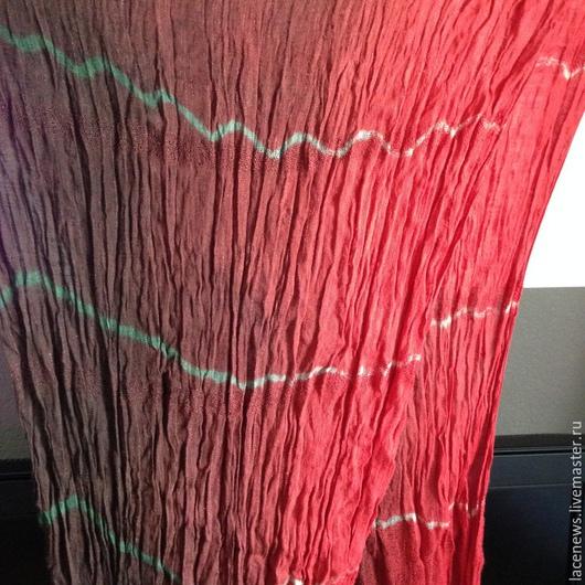 Шарфы и шарфики ручной работы. Ярмарка Мастеров - ручная работа. Купить Платок Шарфик натуральный жатый лен 200х75 см ручной работы. Handmade.