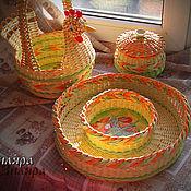 Для дома и интерьера ручной работы. Ярмарка Мастеров - ручная работа Плетеный набор Светлая Пасха. Handmade.