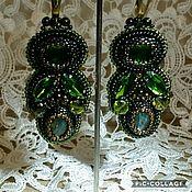 Украшения handmade. Livemaster - original item Sethi evening dark green.. Handmade.