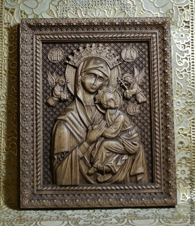 Резная Икона из дерева - Неустанная помощь, Иконы, Владимир, Фото №1