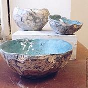 """Посуда ручной работы. Ярмарка Мастеров - ручная работа Три пиалы """"слоеная халва"""". Handmade."""