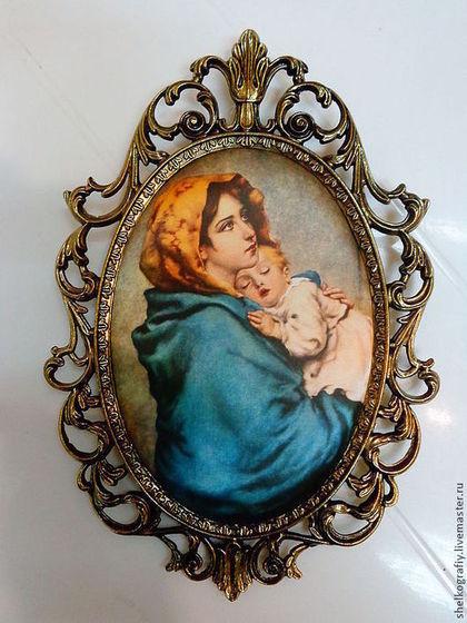 """Репродукции ручной работы. Ярмарка Мастеров - ручная работа Картина на шелке """"Мадонна с младенцем"""". Handmade."""