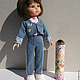 Одежда для кукол ручной работы. Ярмарка Мастеров - ручная работа. Купить джинсовые костюмы.. Handmade. Джинс, Батик, подкладочная ткань