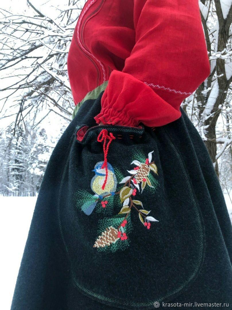 Юбка зимняя суконная с вышивкой, Народные костюмы, Санкт-Петербург, Фото №1