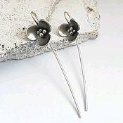 Украшения handmade. Livemaster - original item Silver earrings long, earrings without stones, light earrings.. Handmade.