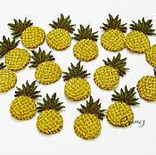Материалы для творчества handmade. Livemaster - original item embroidery applique pineapple stripe decal for scrapbook and clothing. Handmade.