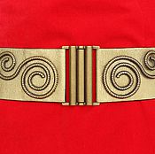 Аксессуары handmade. Livemaster - original item belt-elastic band Snail Golden Bronze, the belt may be of a different color. Handmade.