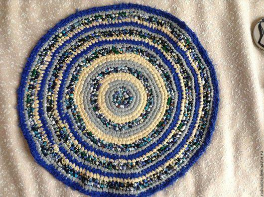 Текстиль, ковры ручной работы. Ярмарка Мастеров - ручная работа. Купить Коврик вязанный ручной работы лоскутный. Handmade.