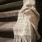 """Аксессуары ручной работы. Ярмарка Мастеров - ручная работа """"Ковыль-трава"""" домотканый шарф. Handmade."""