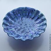 """Посуда ручной работы. Ярмарка Мастеров - ручная работа Блюдо """"Голубая волна"""". Handmade."""