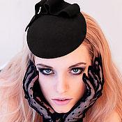 Аксессуары handmade. Livemaster - original item Felt pill box hat