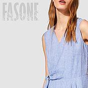 Одежда handmade. Livemaster - original item Linen striped dress Linen dress for hot summer. Handmade.