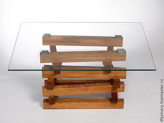 Мебель ручной работы. Ярмарка Мастеров - ручная работа. Купить Стол «Прозрачный». Handmade. Стол, стекло, древесина, лиственница
