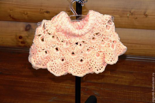 """Одежда для девочек, ручной работы. Ярмарка Мастеров - ручная работа. Купить Пончо вязанное для девочки """"Цветок персика"""". Handmade. однотонный"""