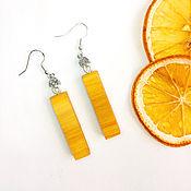Украшения handmade. Livemaster - original item Earrings made of wood. Bright earrings. summer earrings. Long earrings. Handmade.