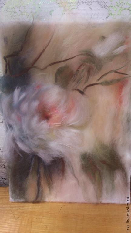 Картины цветов ручной работы. Ярмарка Мастеров - ручная работа. Купить Чайная роза. Handmade. Картины из шерсти, картины цветов
