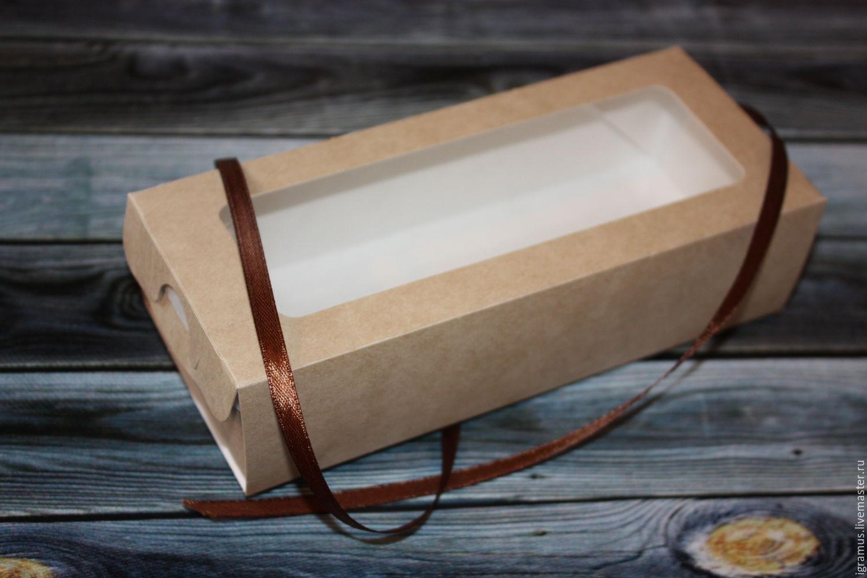 Крафт коробочка с окошком пенал, Материалы для творчества, Москва, Фото №1