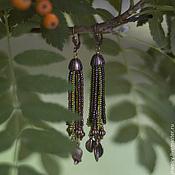 Украшения handmade. Livemaster - original item Earrings with leaves,