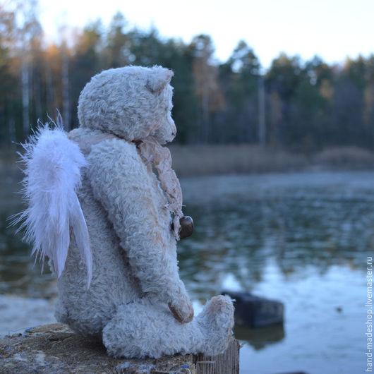 Мишки Тедди ручной работы. Ярмарка Мастеров - ручная работа. Купить мишка тедди Ангел.... Handmade. Белый, тедди медведи