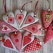 Для дома и интерьера ручной работы. Ярмарка Мастеров - ручная работа Сердечко Валентинка текстильное. Handmade.