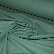 """Материалы для творчества ручной работы. Ярмарка Мастеров - ручная работа Лён-хлопок """"Тёмно-зелёный"""" мягкий. Handmade."""