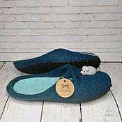 Обувь ручной работы handmade. Livemaster - original item Mouse Slippers on the sea. Handmade.