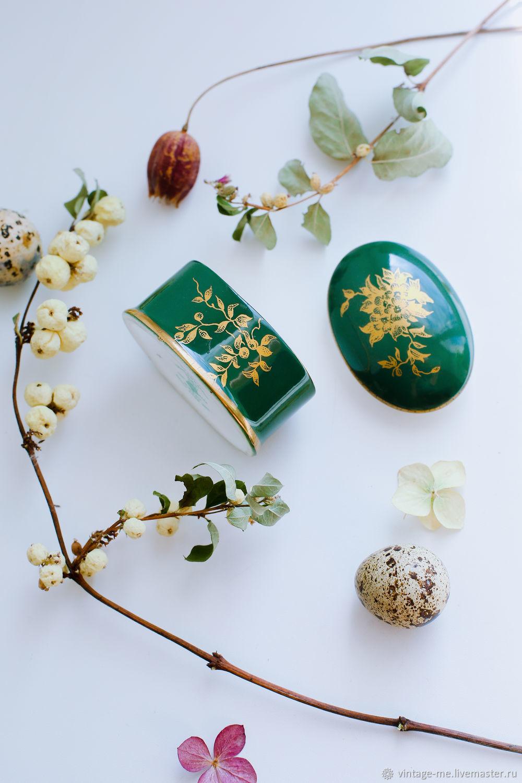 Vintage Porcelain Pill Box Crown Staffordshire England, Vintage accessories, Nizhny Novgorod,  Фото №1