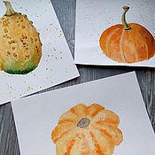 Картины и панно ручной работы. Ярмарка Мастеров - ручная работа Декоративные тыквы. Handmade.