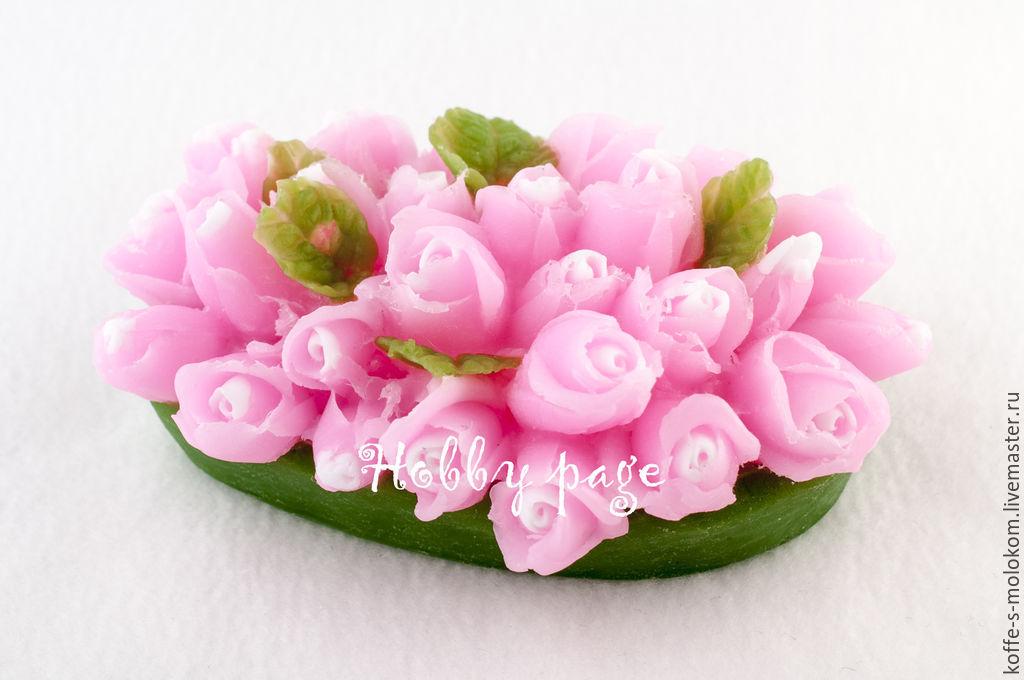 ручной работы. Ярмарка Мастеров - ручная работа. Купить Силиконовая форма для мыла Клумба роз. Handmade. Цветы, роза, букет