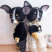 Куклы и игрушки ручной работы. Ярмарка Мастеров - ручная работа Чихуахуа тедди Шарль и Шарлотта. Handmade.