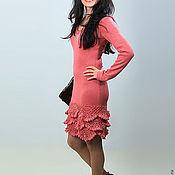 Одежда ручной работы. Ярмарка Мастеров - ручная работа Платье вязаное 4478. Handmade.